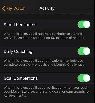 objetivos calóricos al iPhone