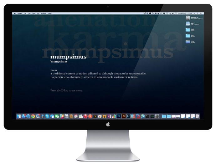fondos de escritorio del salvapantallas de Mac