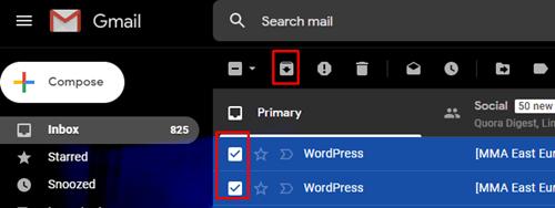 archivos de correo electrónico