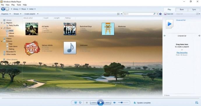 reproductor multimedia de Windows10