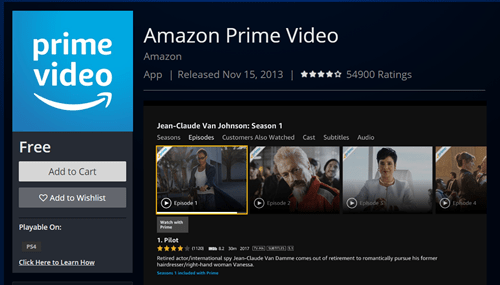 vídeo amazon prime