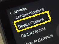 opciones del dispositivo