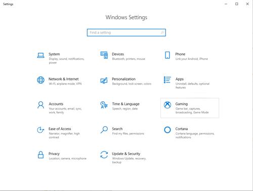 configuración de Windows