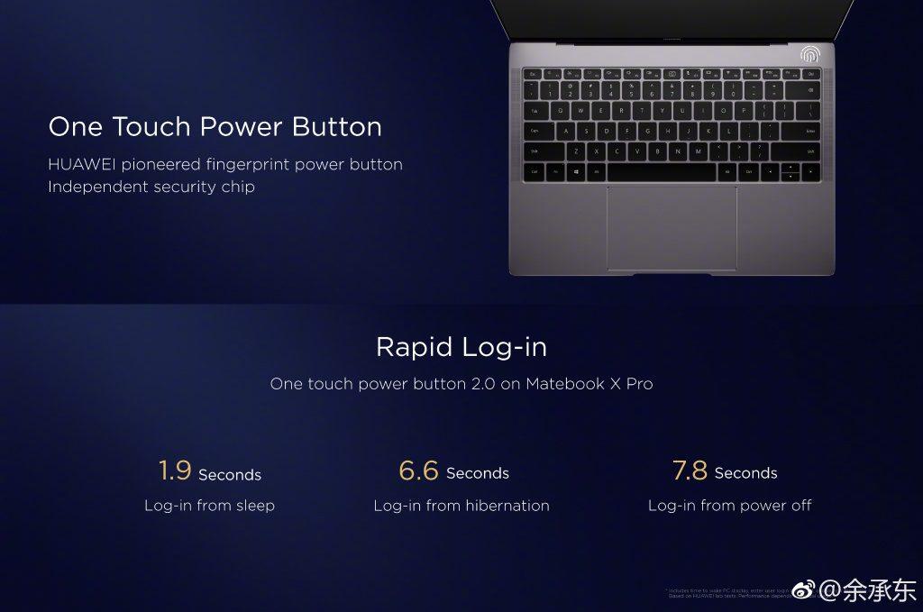Función Huawei Matebook X Pro