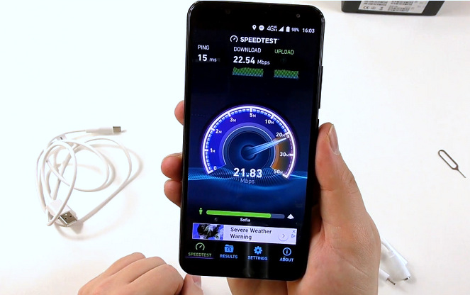 Oukitel K5000 Review Speedtest