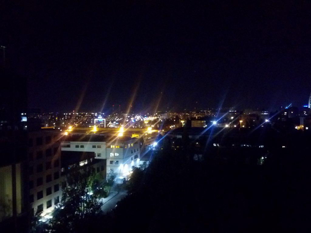 Revisión de Cubota X18: fotografía nocturna de la cámara