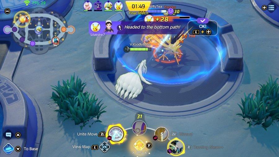 Revisión de Pokémon Unite - Captura de pantalla 5 de 5
