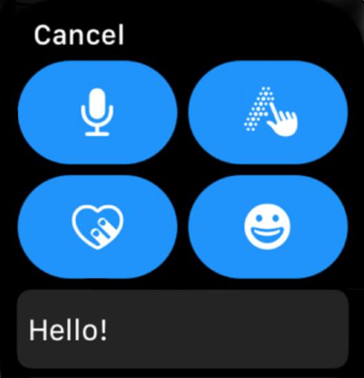 Cómo enviar mensajes desde Apple Watch