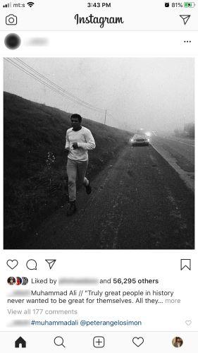 una publicación en tu historia en Instagram