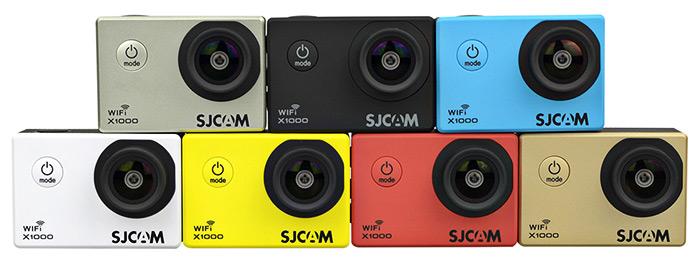 Podemos encontrar la SJCAM X1000 hasta 7 colores diferentes.