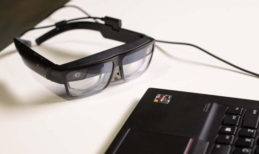 Las gafas AR empresarial ThinkReality A3 de Lenovo permiten la visualización de datos en público